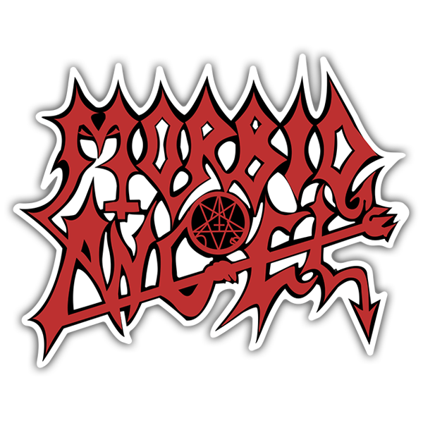 Car & Motorbike Stickers: Morbid Angel Red