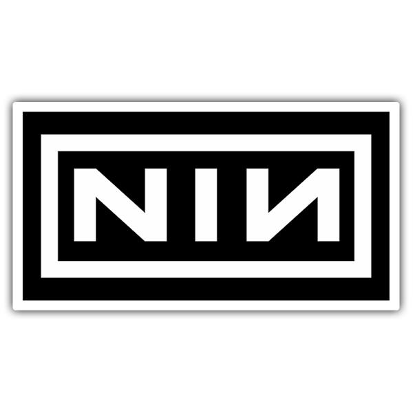 Sticker Nine Inch Nails Logo | MuralDecal.com