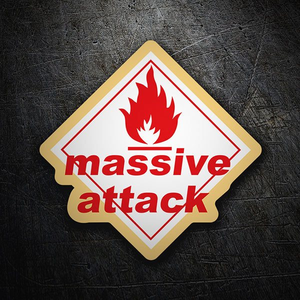Car & Motorbike Stickers: Massive Attack - Blue Lines