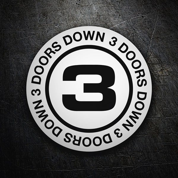 Car & Motorbike Stickers: 3 Doors Down