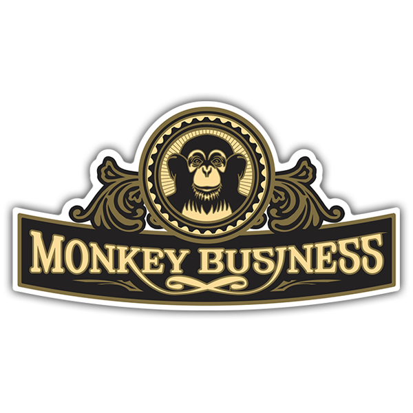 Car & Motorbike Stickers: The Black Eyed Peas - Monkey Business
