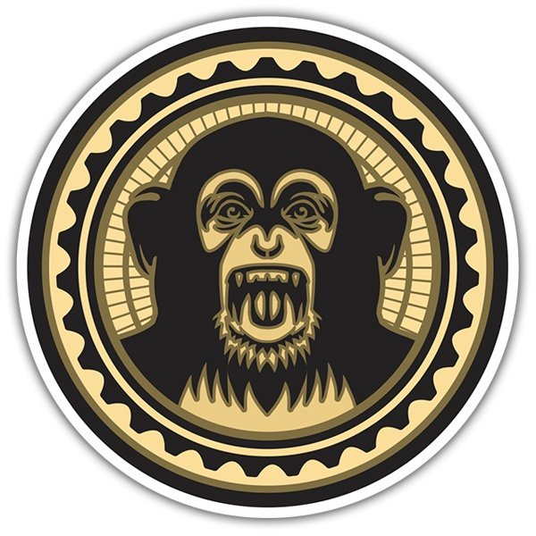 Car & Motorbike Stickers: Crazy Monkey - The Black Eyed Peas