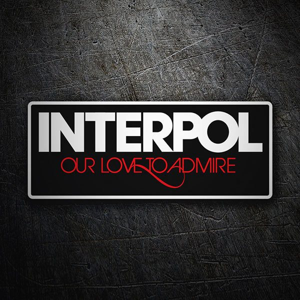 Car & Motorbike Stickers: Interpol Our Love to Admire 1