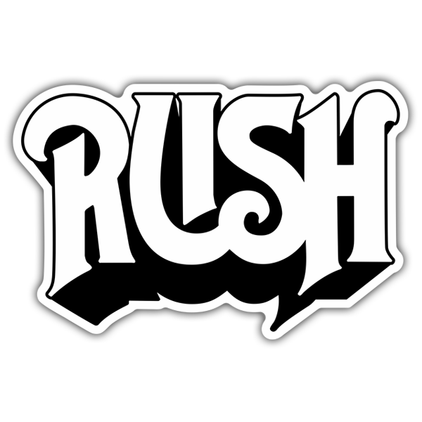 Car & Motorbike Stickers: Rush