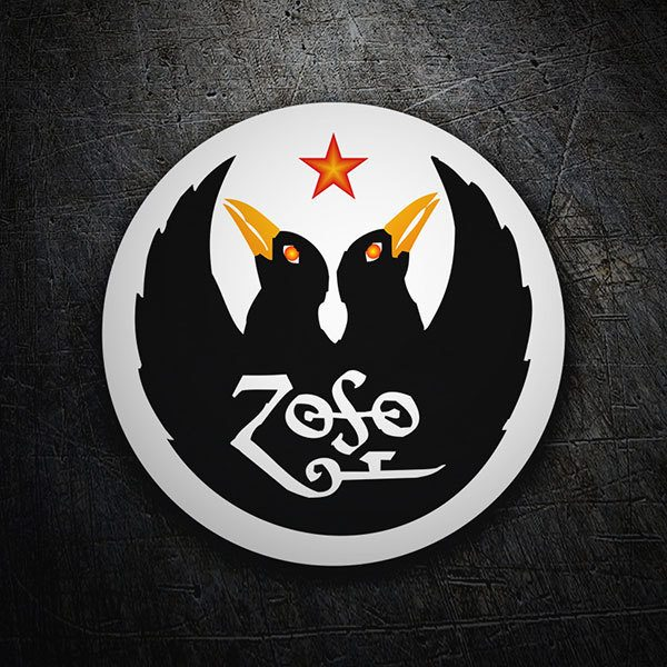 Sticker Led Zeppelin Iv Zoso Muraldecal