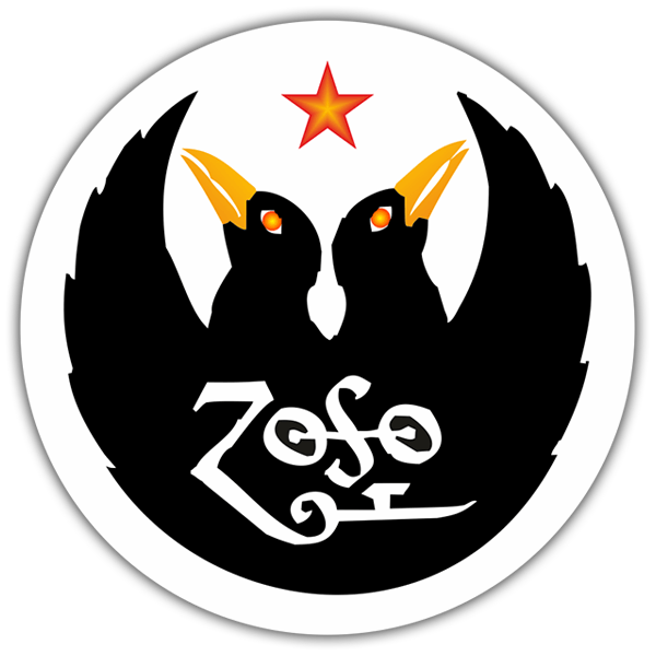 Car & Motorbike Stickers: Led Zeppelin IV - Zoso