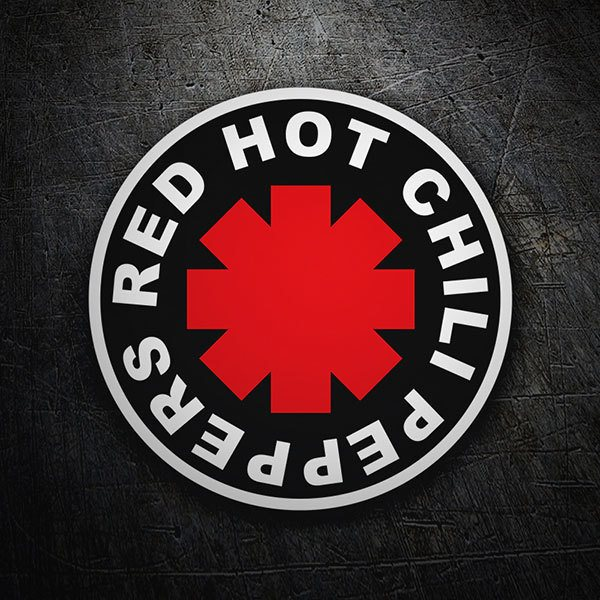 Car & Motorbike Stickers: Red Hot Chili Peppers Black