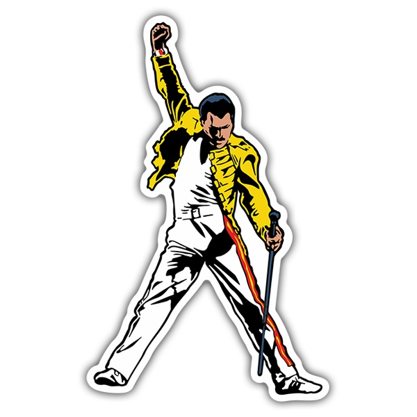 Car & Motorbike Stickers: Queen - Freddie Mercury