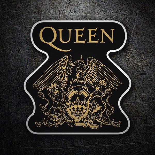 Car & Motorbike Stickers: Queen Logo
