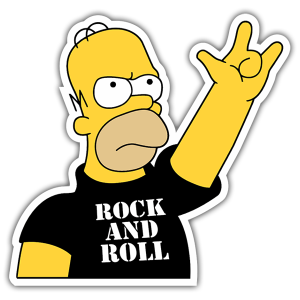 Car & Motorbike Stickers: Rock and Roll Homer