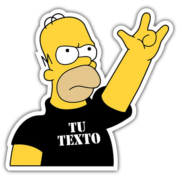 Car & Motorbike Stickers: Rock & Roll Homer Custom