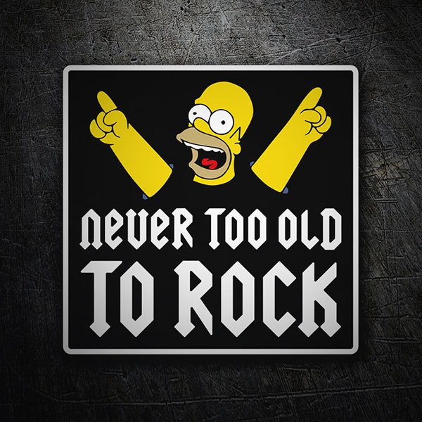 Car & Motorbike Stickers: Homer Never too old to rock