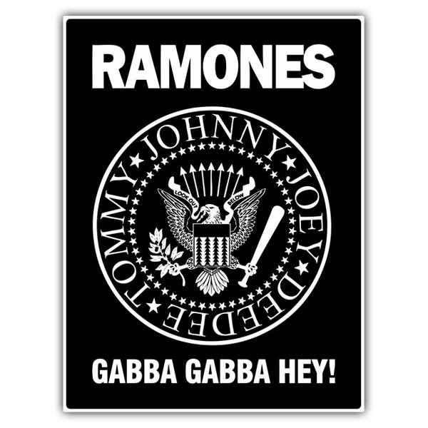 Car & Motorbike Stickers: Ramones Gabba Gabba Hey!
