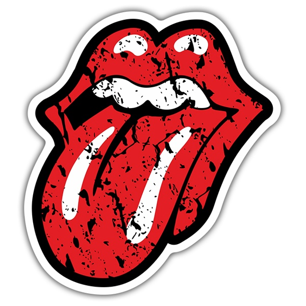 Car & Motorbike Stickers: The Rolling Stones worn out