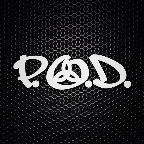 Car & Motorbike Stickers: P.O.D.