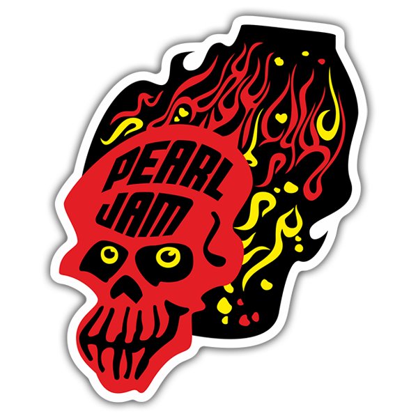 Car & Motorbike Stickers: Pearl Jam Skull