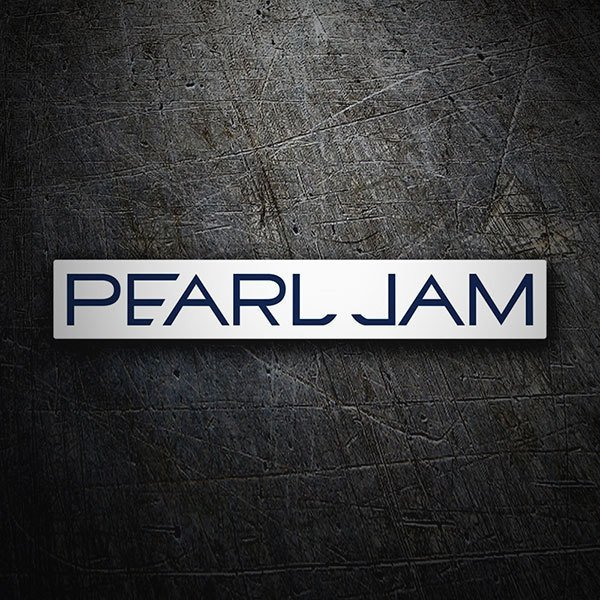Car & Motorbike Stickers: Pearl Jam Retro