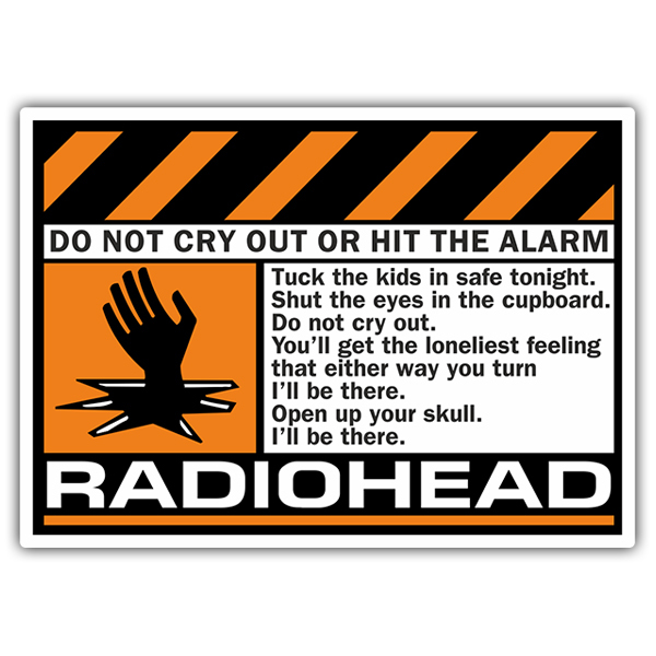 Car & Motorbike Stickers: Radiohead - Do Not Cry