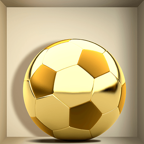 Wall Stickers: Golden Ball niche 0