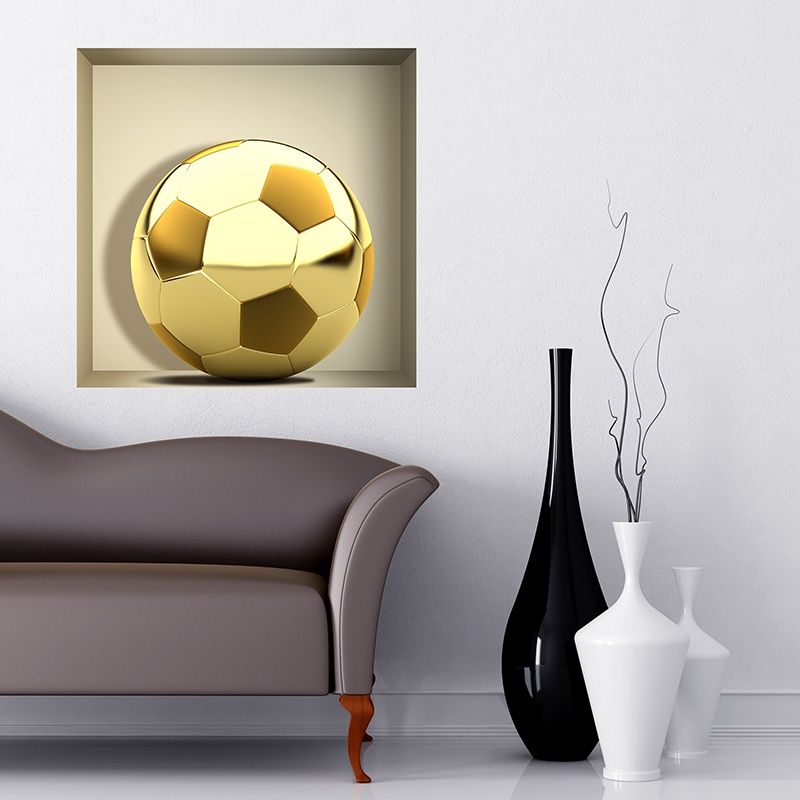 Wall Stickers: Golden Ball niche