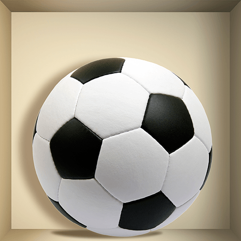 Wall Stickers: Football ball niche 0