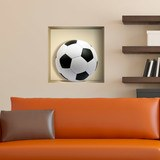 Wall Stickers: Football ball niche 3