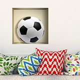 Wall Stickers: Football ball niche 5