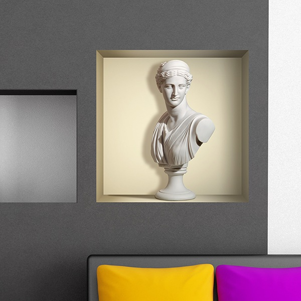 Wall Stickers: Ancient statue of marble niche