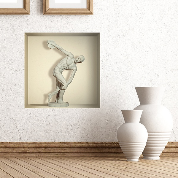 Wall Stickers: Discus Thrower of Myron niche