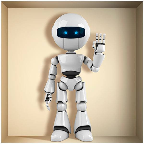 Wall Stickers: Niche with robot
