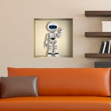 Wall Stickers: Niche with robot 3