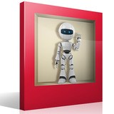 Wall Stickers: Niche with robot 4