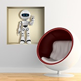 Wall Stickers: Niche with robot 5