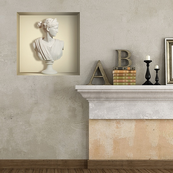 Wall Stickers: Greek marble bust niche