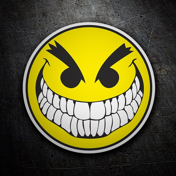 Car and Motorbike Stickers: Bad Smiley