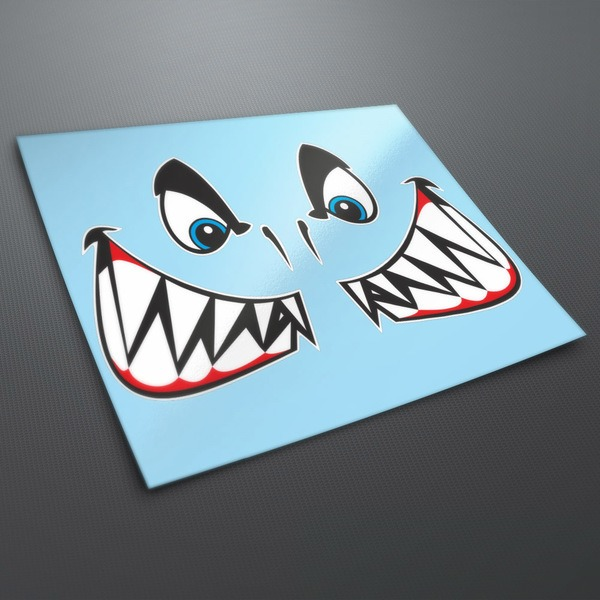 Car & Motorbike Stickers: Shark mouth and eyes