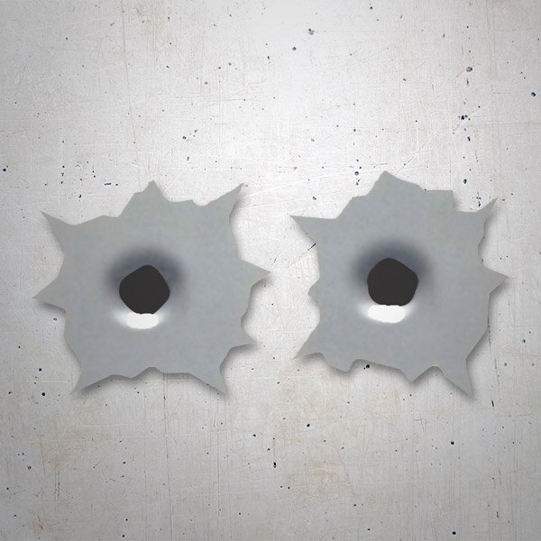 Car & Motorbike Stickers: Bullet Holes