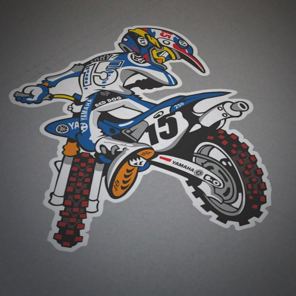 Car & Motorbike Stickers: Yamaha Motocross 1