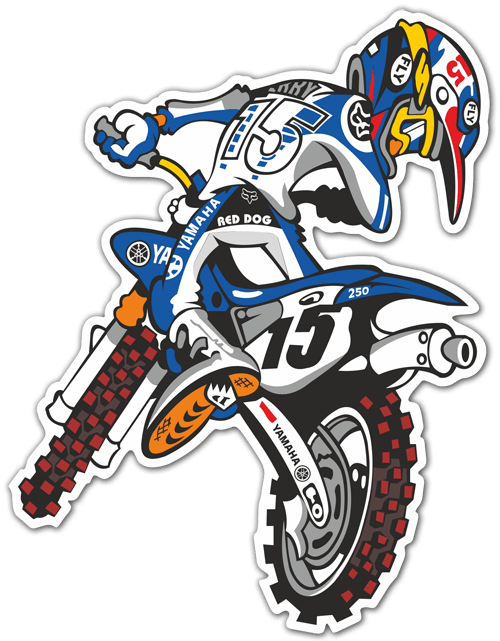 Car & Motorbike Stickers: Yamaha Motocross 0