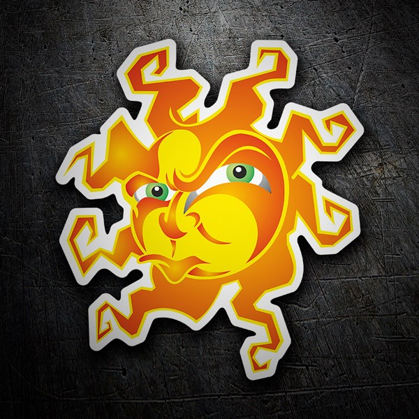 Car & Motorbike Stickers: Angry sun