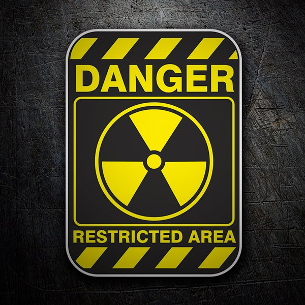 Car & Motorbike Stickers: Danger Restricted Area