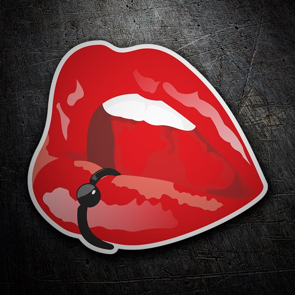 Car & Motorbike Stickers: Piercing lips