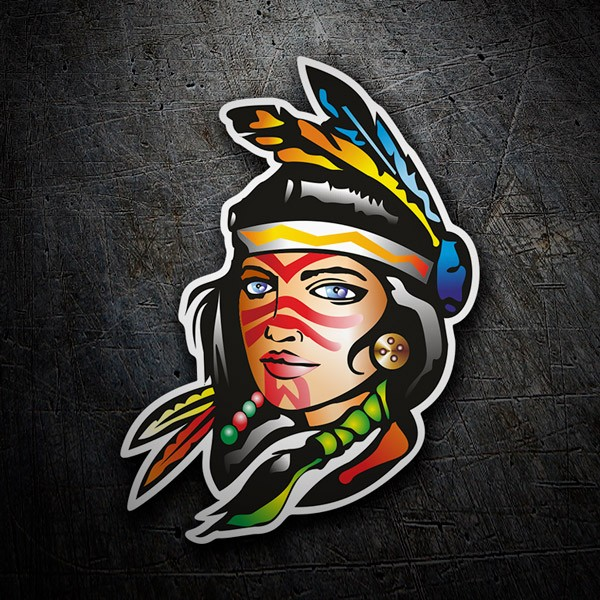 Car and Motorbike Stickers: American Indian
