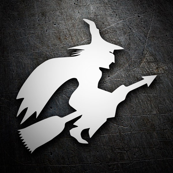 Car and Motorbike Stickers: Witch flying on broom