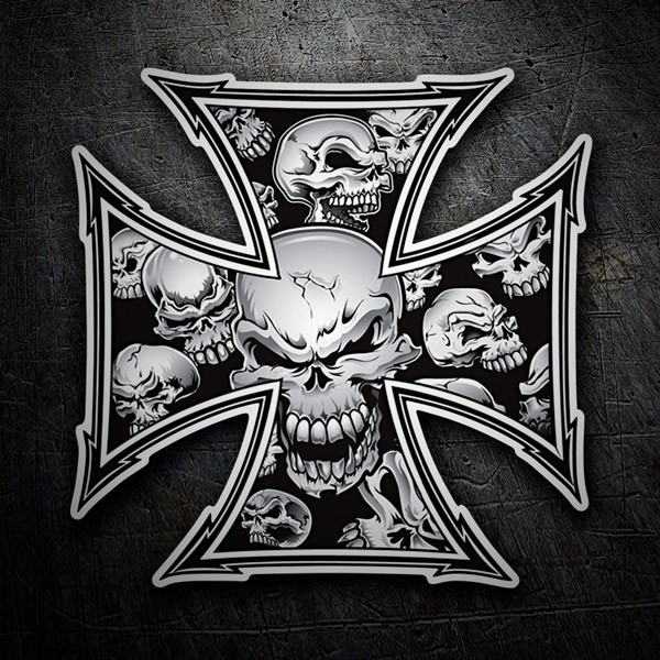 Car and Motorbike Stickers: Cross Skulls
