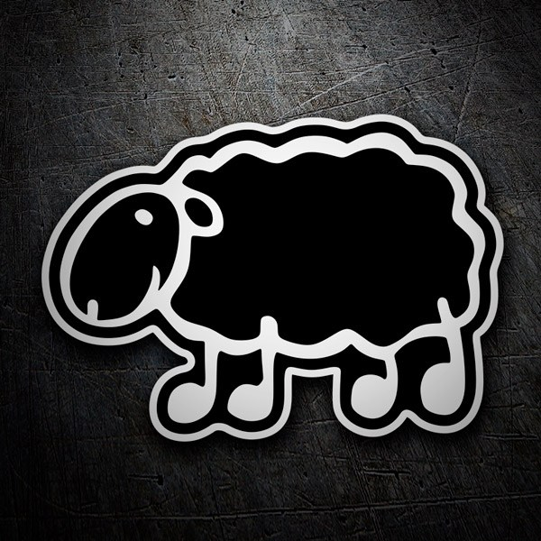 Car and Motorbike Stickers: Menhaden black sheep