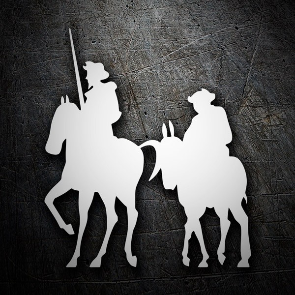 Car & Motorbike Stickers: Don Quixote and Sancho