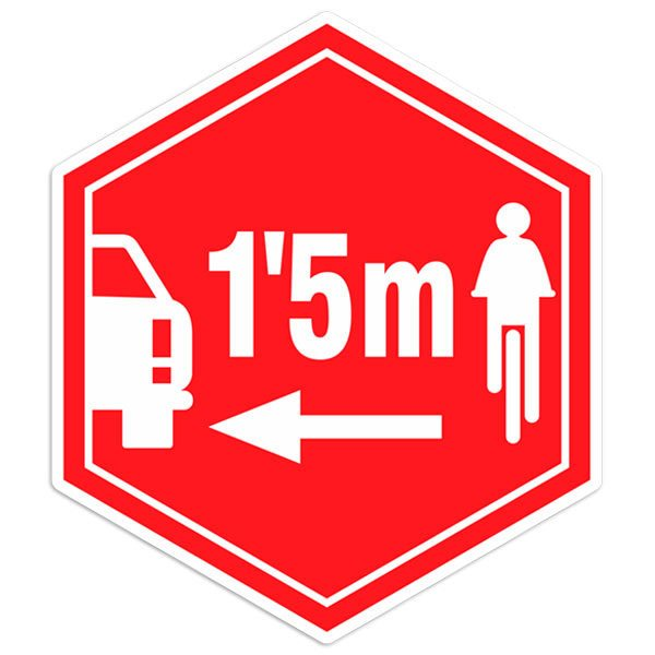 Car & Motorbike Stickers: Sticker Respect cyclists