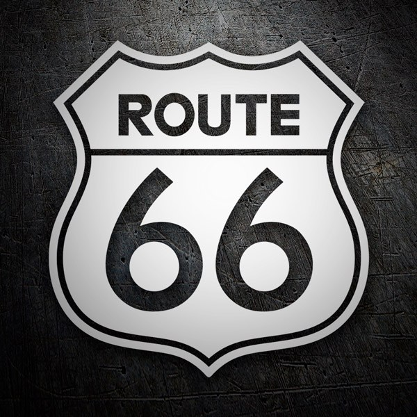 Car & Motorbike Stickers: Route 66 die-cut