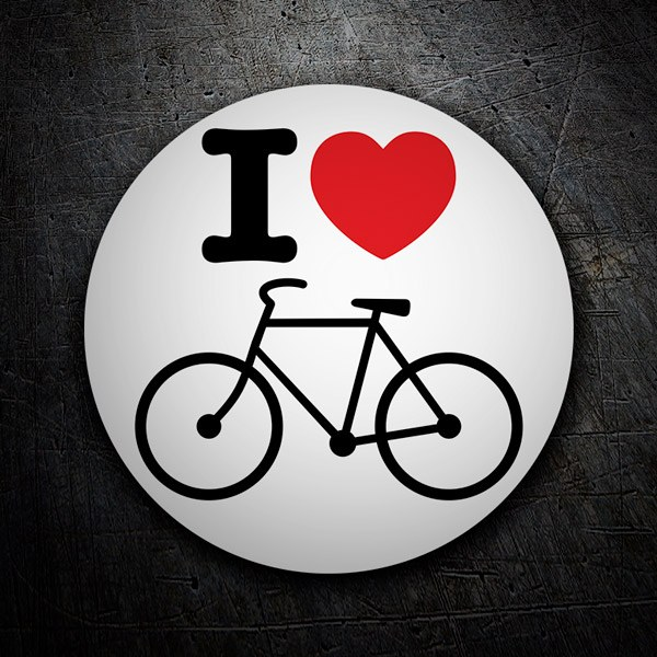 Car and Motorbike Stickers: I love bike